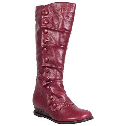 Miz Mooz Women's Bloom Knee High Boot, Red, 7.5 M US