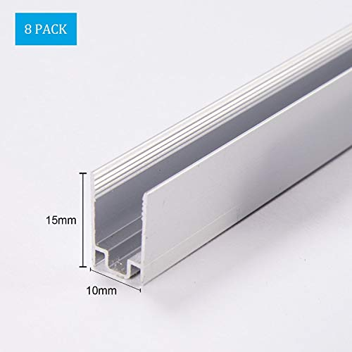 Shine Decor 3.3FT/1M Aluminum Track 110V 8x16mm and 7X 14.5mm LED Mini Neon Rope Lights, Pack of 8