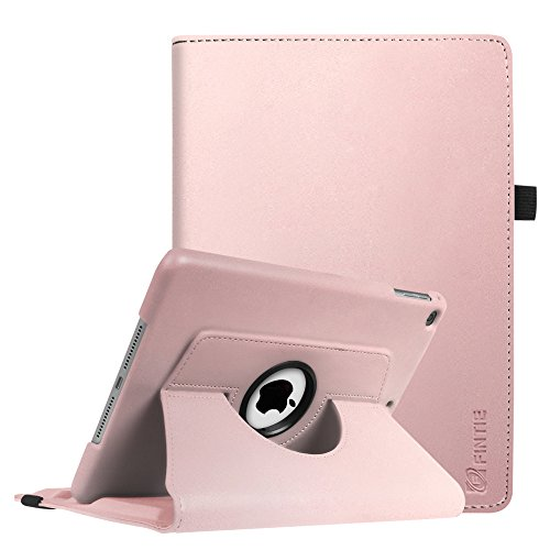 Fintie iPad 9.7 inch 2018 2017 iPad Air Case - 360 Degree Rotating Stand Protective Cover with Auto Sleep Wake for Apple iPad 9.7 inch (6th Gen - 5th Gen) iPad Air 2013 Model - Rose Gold