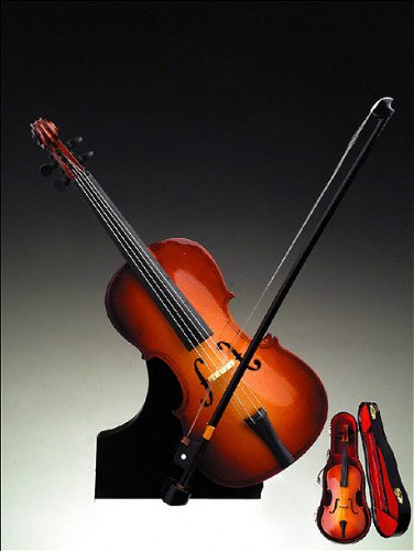 Cello w Case Stand Music Box Musical Instrument NEW by Broadway (Image #1)