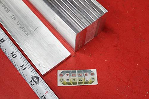 10 Pieces 1/4'' X 2'' Aluminum 6061 Flat BAR 12'' Long T6511 .25'' Plate Mill Stock