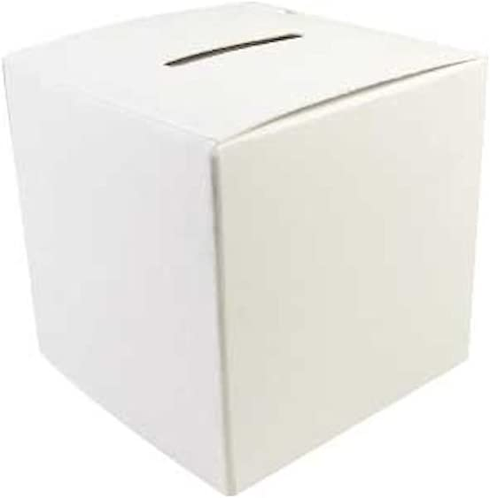 Sterling Gifts Blank Donation Box - Color It Yourself for Kids, Fund Raising 2 3/4 Inch Box (Pkg 50)