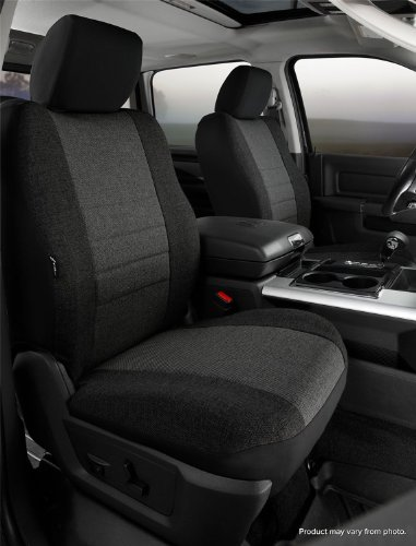 Fia OE38-33 CHARC Custom Fit Front Seat Cover Bucket Seats - Tweed, (Charcoal) ()