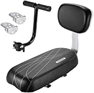 WOVELOT Bicycle Rear Seat Cushion Armrest Footrest Set, Bike Back Seat Safety Cushion Armrest Handrail Rear Fe