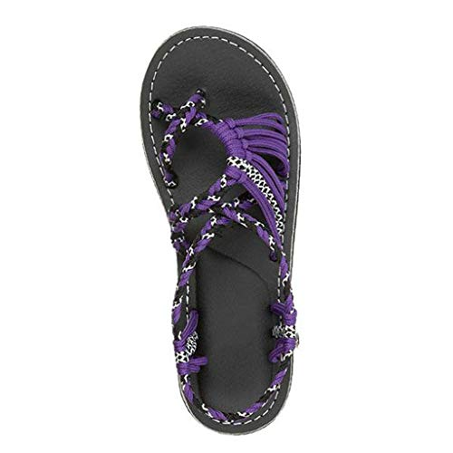 Answerl Women's Comfortable Flat Walking Sandals with Arch Support Waterproof for Walking/Hiking/Travel/Water Spot Purple