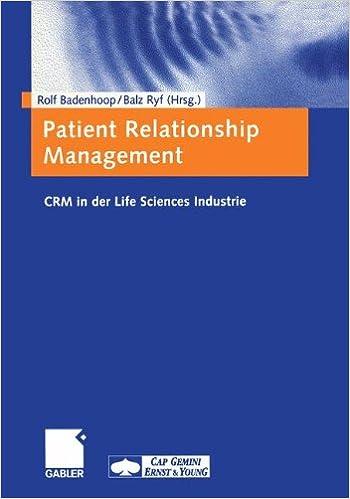 Book Patient Relationship Management: CRM in der Life Sciences Industrie