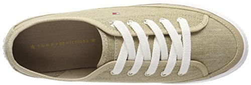 Flatform Tommy Textile Glitter Sneaker Damen Beige 102 Sand Hilfiger xrI6UxF