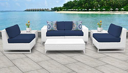 TK Classics MIAMI-07e-NAVY Miami Seating Patio Furniture, Navy (Clearance Furniture Patio Miami)