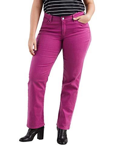 (Levi's Women's Plus-Size 414 Classic Straight Jean's, Soft Raspberry Radiance, 38 (US 18) R)