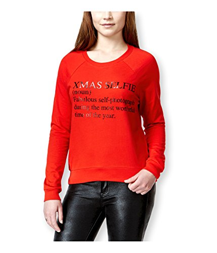 UPC 645545856134, Pretty Rebellious Clothing Womens Xmas Selfie Sweatshirt red M