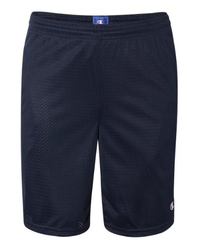 Champion  Men's Long Mesh Short With Pockets,Navy,LARGE (Joggers Shorts)