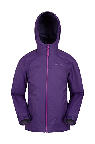 Summer Mountain Kids Zipped Summer Seams Taped Jacket Torrent Warehouse Features Ideal Travelling Adjustable Waterproof Rain Pockets Childrens Jacket Coat Purple for Coat rqwzHrE