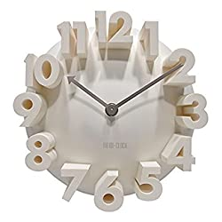 3d Big Digital Modern Contemporary Home Office Decor Round Quartz Wall Clock White