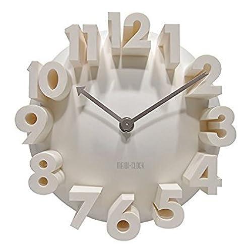 3d Big Digital Modern Contemporary Home Office Decor Round Quartz Wall Clock  White