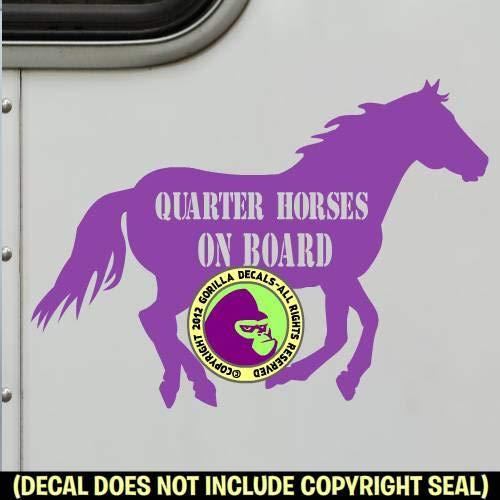 QUARTER HORSES ON BOARD Trailer Vinyl Decal Sticker A