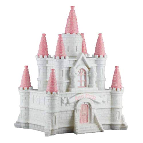Princess Castle Girls Piggy Bank - (Personalized & Custom with Name and Year) (First Financial Toy for Teaching Boys & Girls About Saving Money) (Perfect Unique Gift Idea for Babys 1st Birthday)