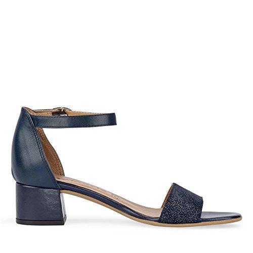 Tamaris Dames 28394 Sandaaltjes Blauw / Metallic