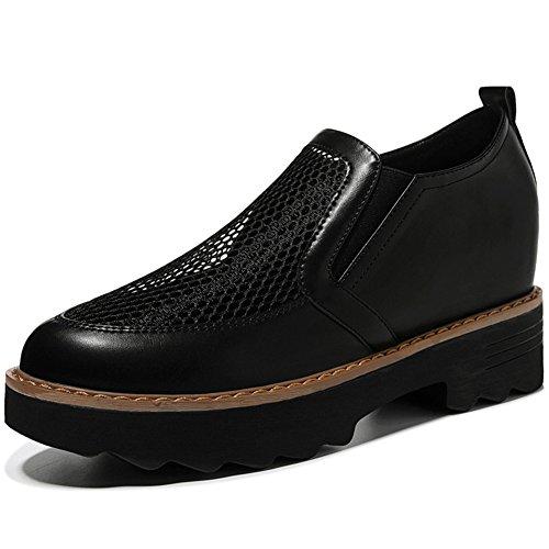 U-MAC Women Shoes Anti-slip Platform Wedge Sneakers Breathable Network Vamp Shoes