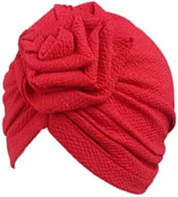 5d724a91eff Tiean Children Baby Girls Women Boho Hat Beanie Scarf Turban Head Wrap Cap