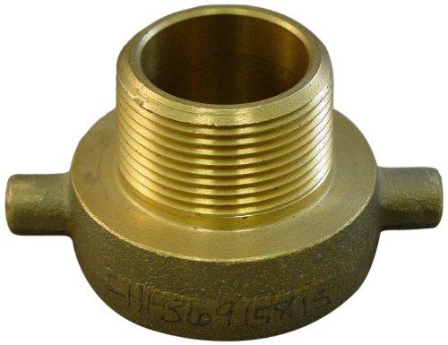 Moon 369-1511521 Brass Fire Hose Adapter, Pin Lug, 1-1/2'' NPSH Female x 1-1/2'' NH Male