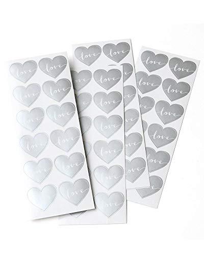 (Gartner Studios Silver Love Heart Seals, 48 Count)