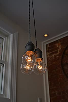 Triple Pendant Light (Steel Socket)