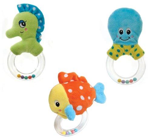 Stella Rattle (LuftBalloons 4 Inch Sealife Baby Rattle Teether Plush 6pk)