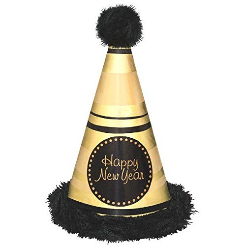 Amscan Happy New Year Deluxe Cone Hat | Party Accessory ()