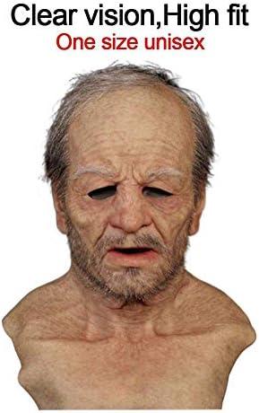 miwaimao Oude Man Masker, Realistische Oude Man Masker Halloween Alle Overdekte Masker Voeren Props Horror Oude Man Maskers Voor Volwassen