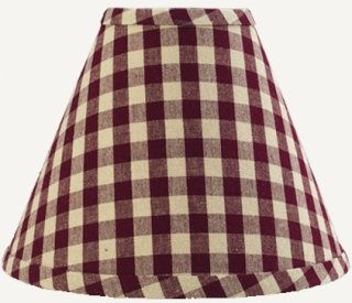 Home Collection by Raghu Heritage House Check Regular Clip Lampshade, 10-Inch, Barn Red/Nutmeg