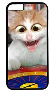 Cute Cat Animal Masterpiece Limited Design Case for iPhone 6 PC Black by Cases & Mousepads
