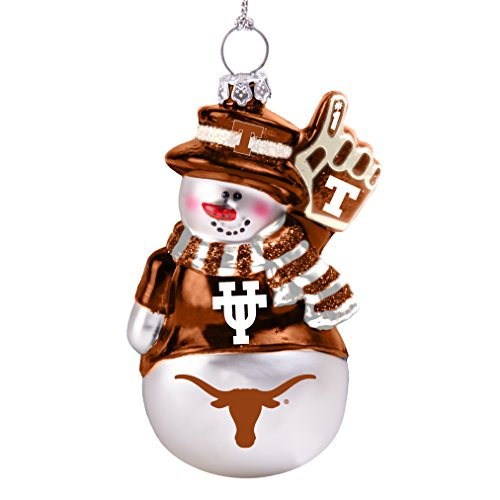 NCAA Texas Longhorns Glitter Snowman Ornament]()