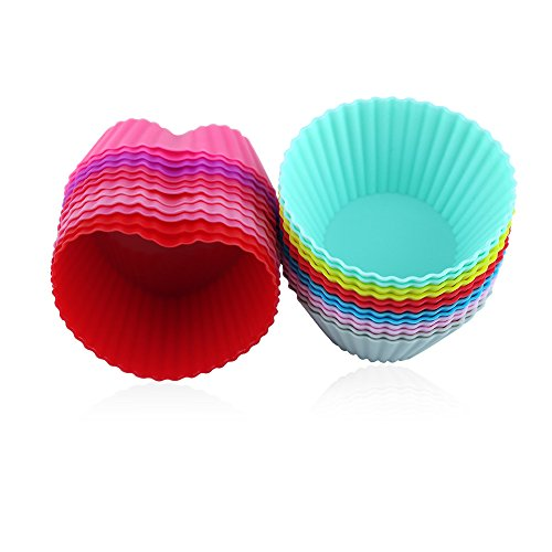 IBRR Silicone Colors Baking Cups Include 12 Shape