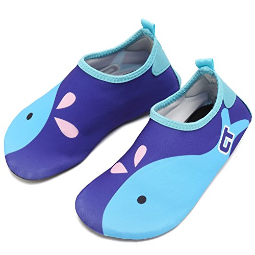 CIOR Kids Skin Barefoot Shoes Quick-Dry Water Shoes Mutifunctional Aqua Socks For Beach Pool Surf Shoes,ct1606,Dark Blue,26.27