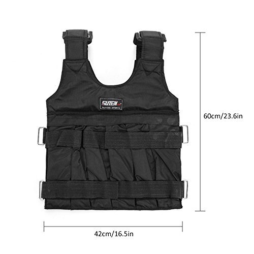 Adjustable Strength Training Vest Weightloading Sand Clothing Weighted Vest Color : 40 lbs Weights Not Included