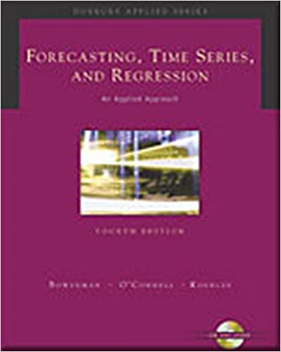 Amazon forecasting time series and regression with cd rom amazon forecasting time series and regression with cd rom forecasting time series regression 9780534409777 bruce l bowerman fandeluxe Choice Image