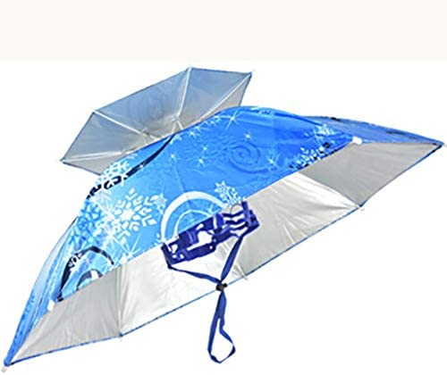 GR5AS アウトドア日傘、日焼け止め傘傘キャップを扇子ダブル大ファイバー傘釣り傘キャップヘッドマウント傘 (Color : D)