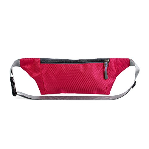 Packs Red for Bag Running Hiking AirZyx Rose Men Waist Waterproof and Women Fanny Running for Men Women Bumbags Hiking xqPqUwn4XI