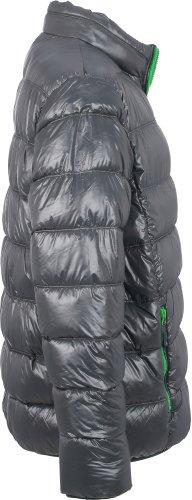 J&N - piumino invernale-giacca da uomo sportivo (JN1064) S, grafite/felce verde