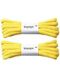 """lorpops 2 Pairs Oval Athletic Shoelaces,Round Shoelaces 5/32"""" Thick, Sneakers & Boots"""