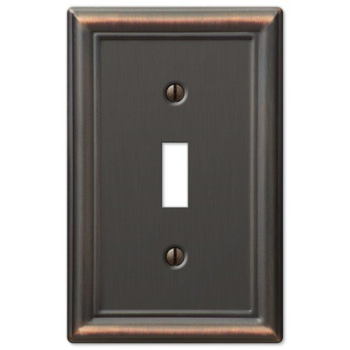 Decorative Wall Switch Outlet Cover Plates (Oil Rubbed Bronze, - Outlets Bronze