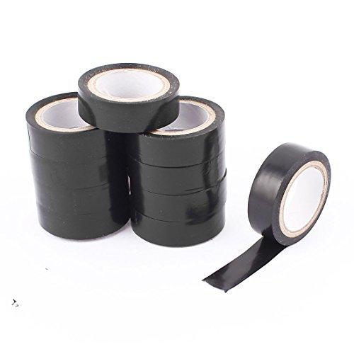 eDealMax Lazo de alambre Reparar Negro PVC autoadhesivo Cinta aislante Banda 10 piezas
