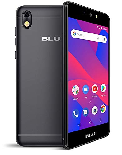 Blu Grand M2 2018 Unlocked Android V.8.1Oreo(Go Edition) Cell Phone 16GB+1GB RAM (Black)