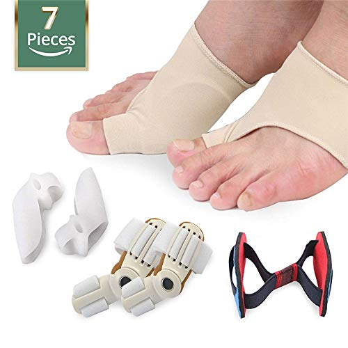 Hallux orthosis and Bunion Relief kit Overlapping Toe, Hammerhead, Toe Separation pad, Hallux valgus Support Splint pad for Men and Women Straightener