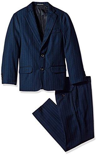 Van Heusen Big Boys' Bold Twill Stripe 2 Pc Suit, Navy, 16 by Van Heusen (Image #1)