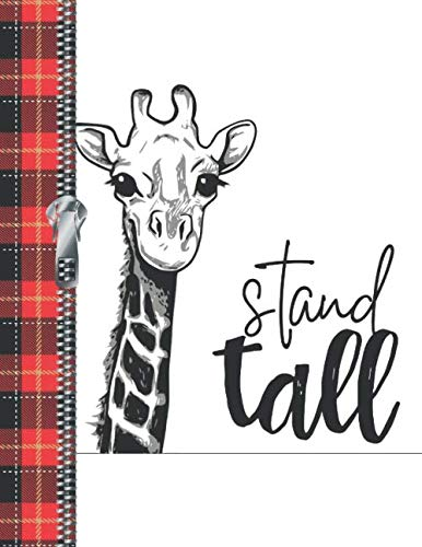 (Stand Tall: Buffalo Red Plaid Giraffe Quote Doodling Writing Journal Diary For Boys And Girls)