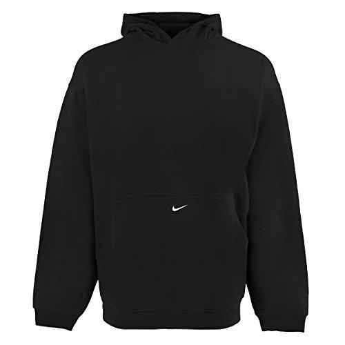 NIKE Men's Premier Fleece Hoodie, Black/White, (Nike Premier Fleece Hoody)