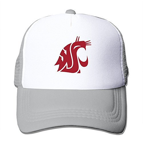 Sport Washington State Cougars Men/Women Baseball Cap Trucker Hat Adjustable One Size Ash By JE9WZ - Washington State University Clothing