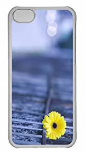 Customized iphone 5C PC Transparent Case - Yellow Gerbera Personalized Cover