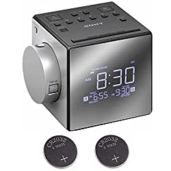 Sony ICFC1PJ Alarm Clock Radio w/2 Back-up 2032 Lithium Batteries
